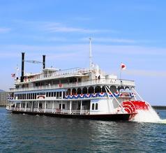 外輪船ミシガンの写真