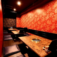 VIP個室で贅沢に焼肉。接待・ご宴会など幅広い場面に