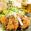 料理メニュー写真鶏唐揚げの油淋鶏/鶏もも肉の柚子こしょう焼き/鶏唐のおろしポン酢