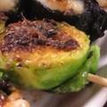 料理メニュー写真芽キャベツの串焼きアンチョビソース
