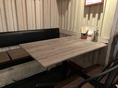 4名様までのテーブル席です。