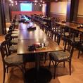 プロジェクター使用OK!62名様までOKのテーブル個室。