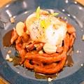 料理メニュー写真プレミアムローストビーフのユッケ風