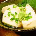 料理メニュー写真自家製黒ごま豆腐/あげ出汁どーふ