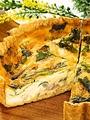 料理メニュー写真季節野菜とチーズのキッシュ