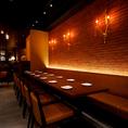 会社宴会や友人同士、合コンなど団体様向けのテーブル席(最大16名様)