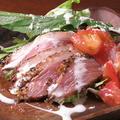 料理メニュー写真鴨とトマトマリネサラダ