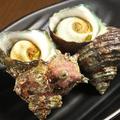 料理メニュー写真サザエの壺焼き(二個)