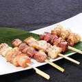 料理メニュー写真豚串盛合せ(5本) タレor塩