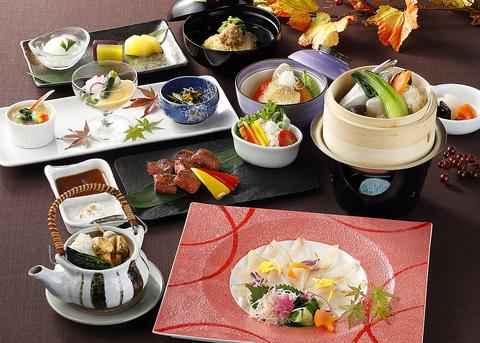 旬の地魚、ステーキ会席9500円全9品(税サ込)