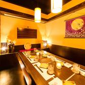 ◆飲み会・女子会にも最適の個室席をご用意いたしております。和を基調とした力強い造りながらも、広々と設けられた開放的な空間で、お客様だけのプライベート空間を演出。お客様の用途に応じたお席をご提案させていただきますので、お気軽にお問合せ下さいませ。