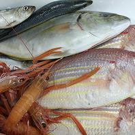 沼津港水揚げの魚介は、毎朝シェフが買い付けに・・・