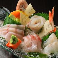 三陸産の新鮮な海鮮