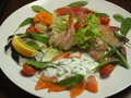 料理メニュー写真鮮魚のカルパッチョ盛り合わせ