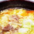 料理メニュー写真アゴとハチノスの特製スープ