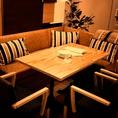 ■お洒落なディスプレイのあるテーブル席