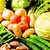 独自仕入れ野菜の逸品料理