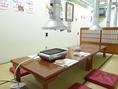 2階のお座敷席は間仕切りがございます為、お隣を気になさらずにお食事をお楽しみ頂けます。