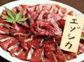料理メニュー写真登別産エゾシカ肉