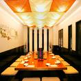 中規模のご宴会にオススメのお席です。和を基調としたデザインと温かな照明の中、新鮮食材を使用したお料理と日本酒で楽しいご宴会や飲み会をご堪能くださいませ。仙台での宴会,飲み会,二次会に◎