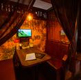 アジアンな雰囲気の個室を多数ご用意。