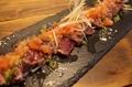 料理メニュー写真カンガルーの炙りカルパッチョ