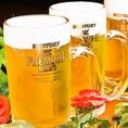 飲み放題付コースは2000円~☆冷た~いビールを飲みながらみんなでわいわい♪