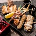 料理メニュー写真焼き五本盛り(塩・タレ)