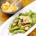 料理メニュー写真枝豆とニンニクのピリ辛炒め 500円