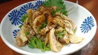 鹿児島産地鶏の炙皮ポン酢