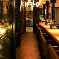【1階カウンター席】オシャレなバルメニューも多数ご用意!先斗町オシャレスタイルな焼肉バルは、こだわりのバルメニューもご用意しています。