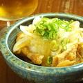 料理メニュー写真鶏かわ ねぎポン酢