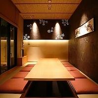 隠れ家のようなVIP席。会食、接待にも。