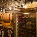 樽生スパークリングやワインセラーもあり。種類豊富なワインからお好みをどうぞ♪