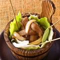 料理メニュー写真イタリアポーク 豚トロ プルコギ 桶焼き肉