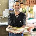 旬や産地にこだわりながら毎朝市場で仕入れる鮮度抜群の魚介類!