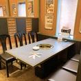 1階には6名までのテーブル席が中心。最大24名までの半個室席もあります。高級感溢れる店内で極上の焼肉を♪