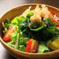 料理メニュー写真わかめサラダ/豆腐サラダ/ツナサラダ