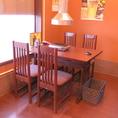 テーブル席は最大5名様までご利用頂けます。