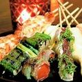 料理メニュー写真【豚バラ巻】キムチ/梅しそ/しょうが
