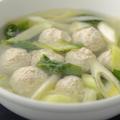 料理メニュー写真野菜と肉団子のスープ