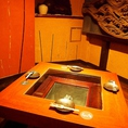 大人気の掘りごたつ個室。「いろり」が風流な人気の個室。接待利用にも。