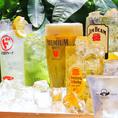 """単品飲み放題は+500円でプレミアム飲み放題にグレードアップできます!生ビールはもちろん、当店自慢の九州巡りシリーズもお楽しみいただけます。【九州巡りシリーズ】をご紹介!ドリンクにも""""九州""""の素材を織り込んでおります♪福岡・あまおうや宮崎・日向夏など各県独特の一杯をお楽しみください。"""