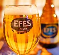 トルコの有名なビール「エフェス」大人気!!