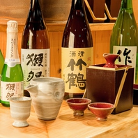 ●全国から厳選した日本酒取り揃え!女子にも大人気!