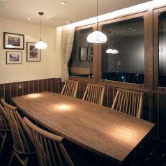 個室名:加賀 椅子タイプ 少人数個室