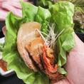 サムギョプサルはチゲ祭り以外のすべてのコースで味わえます☆
