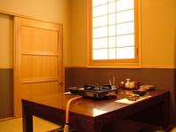 自分たちの空間だけでお料理を愉しめる『個室』あります
