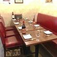 大人の隠れ家のような店内は、大人数宴会や女子会、飲み会にぴったりのテーブル席をご用意しております!!