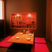 自慢の個室は居心地の良さを追求!!インテリアに拘り抜いた店内はまさに異空間!!女子会・デート・男子会など様々なシーンに対応。